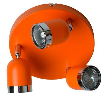 Светильник поворотный спот Mw light 546021103 ОрионТройные<br>Описание модели 546021103: Современные, выполненные в стиле минимализм светильники-споты из коллекции «Орион» подойдут для точечного освещения пространства. Основание сделано из металла в двух цветовых вариантах – спокойный классический белый, и яркий бодрящий оранжевый. Споты «Орион» подойдут для организации зонального освещения на кухне, в ванной, прихожей или детской комнатах, для создания особой, уютной атмосферы. Рекомендуемая площадь освещения – до 9 кв.м.<br><br>S освещ. до, м2: 7<br>Тип лампы: галогенная/LED<br>Тип цоколя: GU10<br>Цвет арматуры: серебристый<br>Количество ламп: 3<br>Диаметр, мм мм: 300<br>Высота, мм: 140<br>MAX мощность ламп, Вт: 35<br>Общая мощность, Вт: 105