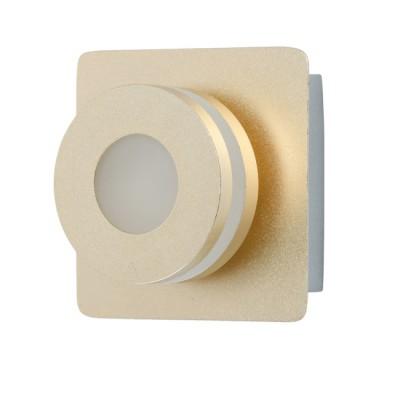 Светильник Mw light 549020301бра с 1 лампой<br>Оригинальный минималистичный светильник отлично дополнит современный интерьер. Металлическое снование представлено в трех цветовых вариациях: оттенка хрома, золота и розового золота. Главная изюминка композиции - необычные плоские плафоны, выполненные из металла в тон основанию и матового акрила, декорирующего источники света-светодиоды.<br><br>S освещ. до, м2: 3<br>Тип лампы: LED<br>Тип цоколя: LED<br>Цвет арматуры: золотой<br>Количество ламп: 1<br>Ширина, мм: 100<br>Длина, мм: 100<br>Высота, мм: 75<br>Оттенок (цвет): золотой<br>MAX мощность ламп, Вт: 5