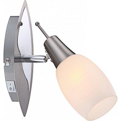 Светильник Globo 54983-1 Gilianодиночные споты<br>Светильники-споты – это оригинальные изделия с современным дизайном. Они позволяют не ограничивать свою фантазию при выборе освещения для интерьера. Такие модели обеспечивают достаточно качественный свет. Благодаря компактным размерам Вы можете использовать несколько спотов для одного помещения.  Интернет-магазин «Светодом» предлагает необычный светильник-спот Globo 54983-1 по привлекательной цене. Эта модель станет отличным дополнением к люстре, выполненной в том же стиле. Перед оформлением заказа изучите характеристики изделия.  Купить светильник-спот Globo 54983-1 в нашем онлайн-магазине Вы можете либо с помощью формы на сайте, либо по указанным выше телефонам. Обратите внимание, что у нас склады не только в Москве и Екатеринбурге, но и других городах России.<br><br>S освещ. до, м2: 2<br>Тип лампы: накал-я - энергосбер-я<br>Тип цоколя: E14<br>Цвет арматуры: серебристый<br>Количество ламп: 1<br>Ширина, мм: 155<br>Высота, мм: 200<br>MAX мощность ламп, Вт: 40