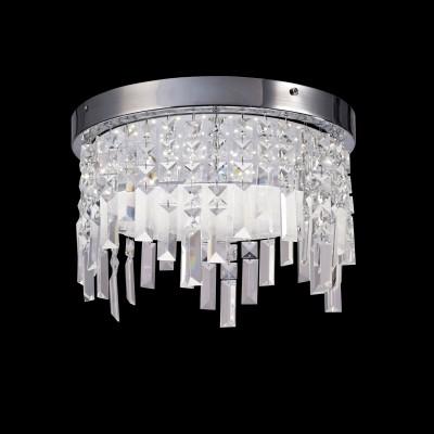 Потолочный светильник Mantra 5521 CRYSTALхрустальные потолочные люстры<br>Компания «Светодом» предлагает широкий ассортимент люстр от известных производителей. Представленные в нашем каталоге товары выполнены из современных материалов и обладают отличным качеством. Благодаря широкому ассортименту Вы сможете найти у нас люстру под любой интерьер. Мы предлагаем как классические варианты, так и современные модели, отличающиеся лаконичностью и простотой форм.  Стильная люстра Mantra 5521 станет украшением любого дома. Эта модель от известного производителя не оставит равнодушным ценителей красивых и оригинальных предметов интерьера. Люстра Mantra 5521 обеспечит равномерное распределение света по всей комнате. При выборе обратите внимание на характеристики, позволяющие приобрести наиболее подходящую модель. Купить понравившуюся люстру по доступной цене Вы можете в интернет-магазине «Светодом».<br><br>Установка на натяжной потолок: Да<br>S освещ. до, м2: 5<br>Цветовая t, К: CW - холодный белый 4000 К<br>Тип лампы: LED (входят в комплект)<br>Тип цоколя: LED<br>Цвет арматуры: серебристый хром<br>Количество ламп: 1<br>Диаметр, мм мм: 250<br>Высота, мм: 240<br>MAX мощность ламп, Вт: 12