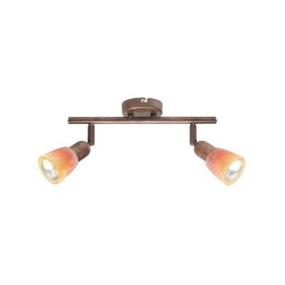 Светильник Brilliant 55313/19 SofiaДвойные<br><br><br>S освещ. до, м2: 5<br>Тип товара: Светильник поворотный спот<br>Тип лампы: накал-я - энергосбер-я<br>Тип цоколя: E14<br>Количество ламп: 2<br>Ширина, мм: 330<br>MAX мощность ламп, Вт: 40<br>Выступ, мм: 215<br>Длина, мм: 330<br>Высота, мм: 100<br>Цвет арматуры: коричневый