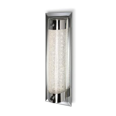 Настенный светильник бра Mantra 5534 CRYSTALБра хай тек стиля<br><br><br>Цветовая t, К: CW - холодный белый 4000 К<br>Тип лампы: LED (входят в комплект)<br>Тип цоколя: LED<br>Цвет арматуры: серебристый хром<br>Ширина, мм: 100<br>Длина, мм: 300<br>Высота, мм: 75<br>MAX мощность ламп, Вт: 8