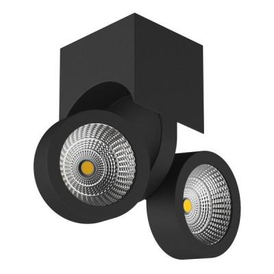 Купить 055374 Светильник SNODO LED 2*10W 1960LM 23G ЧЕРНЫЙ 4000K IP20, Lightstar, Китай