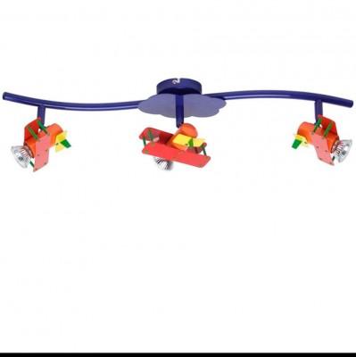Светильник Brilliant G55816/72 для детскойТройные<br>Зачастую мы ищем идеальное освещение для своего дома и уделяем этому достаточно много времени. Так, например, если нам нужен светильник с количеством ламп - 3! То нам, как вариант, подойдет модель - система спотов Brilliant G55816/72.<br><br>S освещ. до, м2: 10<br>Тип лампы: галогенная / LED-светодиодная<br>Тип цоколя: GU10<br>Количество ламп: 3<br>Ширина, мм: 690<br>MAX мощность ламп, Вт: 50<br>Выступ, мм: 165<br>Длина, мм: 690<br>Цвет арматуры: синий
