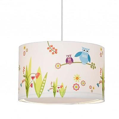 Светильник подвесной Brilliant 56070/72 Birds для детскойПодвесные<br><br><br>Установка на натяжной потолок: Да<br>S освещ. до, м2: 1<br>Крепление: Крюк<br>Тип товара: Светильник подвесной<br>Скидка, %: 24<br>Тип цоколя: E27<br>Количество ламп: 1<br>MAX мощность ламп, Вт: 60<br>Цвет арматуры: разноцветный
