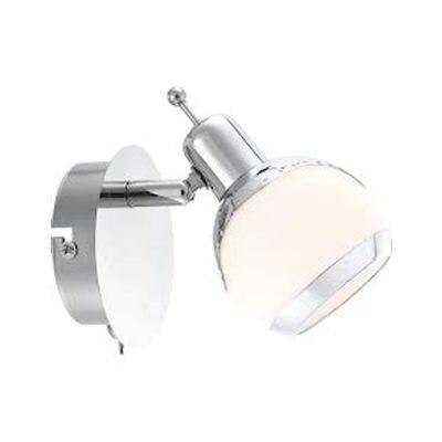 Светильник спот Globo 56100-1 AngeloОдиночные<br>Светильники-споты – это оригинальные изделия с современным дизайном. Они позволяют не ограничивать свою фантазию при выборе освещения для интерьера. Такие модели обеспечивают достаточно качественный свет. Благодаря компактным размерам Вы можете использовать несколько спотов для одного помещения. <br>Интернет-магазин «Светодом» предлагает необычный светильник-спот Globo 56100-1 по привлекательной цене. Эта модель станет отличным дополнением к люстре, выполненной в том же стиле. Перед оформлением заказа изучите характеристики изделия. <br>Купить светильник-спот Globo 56100-1 в нашем онлайн-магазине Вы можете либо с помощью формы на сайте, либо по указанным выше телефонам. Обратите внимание, что у нас склады не только в Москве и Екатеринбурге, но и других городах России.<br><br>S освещ. до, м2: 2<br>Тип лампы: галогенная / LED-светодиодная<br>Тип цоколя: G9<br>Количество ламп: 1<br>Ширина, мм: 100<br>MAX мощность ламп, Вт: 33<br>Диаметр, мм мм: 100<br>Длина, мм: 120<br>Расстояние от стены, мм: 120<br>Высота, мм: 130<br>Оттенок (цвет): белый<br>Цвет арматуры: серебристый