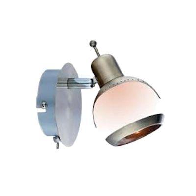 Светильник спот Globo 56101-1 GalvinОдиночные<br><br><br>S освещ. до, м2: 2<br>Тип товара: Светильник поворотный спот<br>Скидка, %: 35<br>Тип лампы: галогенная / LED-светодиодная<br>Тип цоколя: G9<br>Количество ламп: 1<br>Ширина, мм: 80<br>MAX мощность ламп, Вт: 33<br>Диаметр, мм мм: 100<br>Длина, мм: 120<br>Расстояние от стены, мм: 120<br>Высота, мм: 130<br>Оттенок (цвет): шампань с металлическими основанием и окантовкой<br>Цвет арматуры: бронзовый