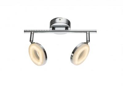 Спот Globo 56121-2 PENELOPEдвойные светильники споты<br>Спот Globo 56121-2 PENELOPE отличается поворотной способностью регулировки светового потока и сделает Ваше помещение современным, стильным и запоминающимся! Наиболее функционально и эстетически привлекательно модель будет смотреться в гостиной, зале, холле или другой комнате. А в комплекте с люстрой, бра или торшером из этой же коллекции сделает интерьер по-дизайнерски профессиональным и законченным.