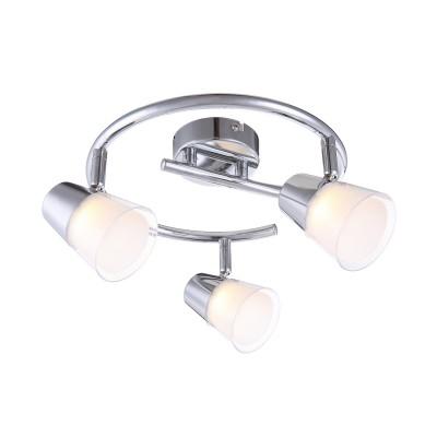 Светильник Globo 56185-3тройные споты<br>Светильники-споты – это оригинальные изделия с современным дизайном. Они позволяют не ограничивать свою фантазию при выборе освещения для интерьера. Такие модели обеспечивают достаточно качественный свет. Благодаря компактным размерам Вы можете использовать несколько спотов для одного помещения. <br>Интернет-магазин «Светодом» предлагает необычный светильник-спот Globo 56185-3 по привлекательной цене. Эта модель станет отличным дополнением к люстре, выполненной в том же стиле. Перед оформлением заказа изучите характеристики изделия. <br>Купить светильник-спот Globo 56185-3 в нашем онлайн-магазине Вы можете либо с помощью формы на сайте, либо по указанным выше телефонам. Обратите внимание, что у нас склады не только в Москве и Екатеринбурге, но и других городах России.<br><br>S освещ. до, м2: 4<br>Тип лампы: LED<br>Тип цоколя: LED<br>Цвет арматуры: серебристый<br>Количество ламп: 3<br>Диаметр, мм мм: 250<br>Высота, мм: 155<br>MAX мощность ламп, Вт: 3