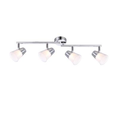 Светильник Globo 56185-4споты 4 лампы<br>Светильники-споты – это оригинальные изделия с современным дизайном. Они позволяют не ограничивать свою фантазию при выборе освещения для интерьера. Такие модели обеспечивают достаточно качественный свет. Благодаря компактным размерам Вы можете использовать несколько спотов для одного помещения. <br>Интернет-магазин «Светодом» предлагает необычный светильник-спот Globo 56185-4 по привлекательной цене. Эта модель станет отличным дополнением к люстре, выполненной в том же стиле. Перед оформлением заказа изучите характеристики изделия. <br>Купить светильник-спот Globo 56185-4 в нашем онлайн-магазине Вы можете либо с помощью формы на сайте, либо по указанным выше телефонам. Обратите внимание, что у нас склады не только в Москве и Екатеринбурге, но и других городах России.<br><br>S освещ. до, м2: 5<br>Тип лампы: LED<br>Тип цоколя: LED<br>Цвет арматуры: серебристый<br>Количество ламп: 4<br>Ширина, мм: 155<br>Длина, мм: 600<br>Высота, мм: 155<br>MAX мощность ламп, Вт: 3