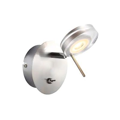 Светильник бра Globo 56190-1 SpaceХай-тек<br><br><br>S освещ. до, м2: 3<br>Тип лампы: LED - светодиодная<br>Тип цоколя: LED<br>Количество ламп: 1<br>Ширина, мм: 120<br>MAX мощность ламп, Вт: 5<br>Диаметр, мм мм: 120<br>Длина, мм: 157<br>Расстояние от стены, мм: 157<br>Высота, мм: 120<br>Оттенок (цвет): белый<br>Цвет арматуры: серебристый/хром