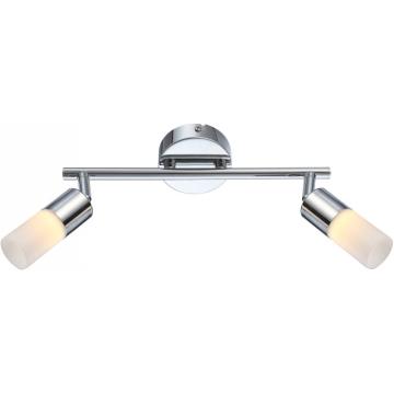 Светильник Globo 56216-2 Spinaдвойные светильники споты<br>Светильники-споты – это оригинальные изделия с современным дизайном. Они позволяют не ограничивать свою фантазию при выборе освещения для интерьера. Такие модели обеспечивают достаточно качественный свет. Благодаря компактным размерам Вы можете использовать несколько спотов для одного помещения.  Интернет-магазин «Светодом» предлагает необычный светильник-спот Globo 56216-2 по привлекательной цене. Эта модель станет отличным дополнением к люстре, выполненной в том же стиле. Перед оформлением заказа изучите характеристики изделия.  Купить светильник-спот Globo 56216-2 в нашем онлайн-магазине Вы можете либо с помощью формы на сайте, либо по указанным выше телефонам. Обратите внимание, что у нас склады не только в Москве и Екатеринбурге, но и других городах России.<br><br>S освещ. до, м2: 4<br>Тип лампы: галогенная / LED-светодиодная<br>Тип цоколя: LED<br>Цвет арматуры: серебристый<br>Количество ламп: 2<br>Ширина, мм: 180<br>Длина, мм: 280<br>Высота, мм: 180<br>MAX мощность ламп, Вт: 5