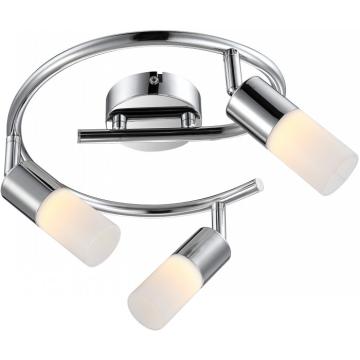 Светильник Globo 56216-3 SpinaТройные<br>Светильники-споты – это оригинальные изделия с современным дизайном. Они позволяют не ограничивать свою фантазию при выборе освещения для интерьера. Такие модели обеспечивают достаточно качественный свет. Благодаря компактным размерам Вы можете использовать несколько спотов для одного помещения.  Интернет-магазин «Светодом» предлагает необычный светильник-спот Globo 56216-3 по привлекательной цене. Эта модель станет отличным дополнением к люстре, выполненной в том же стиле. Перед оформлением заказа изучите характеристики изделия.  Купить светильник-спот Globo 56216-3 в нашем онлайн-магазине Вы можете либо с помощью формы на сайте, либо по указанным выше телефонам. Обратите внимание, что у нас склады не только в Москве и Екатеринбурге, но и других городах России.<br><br>S освещ. до, м2: 1<br>Тип лампы: галогенная / LED-светодиодная<br>Тип цоколя: LED<br>Количество ламп: 3<br>Ширина, мм: 250<br>MAX мощность ламп, Вт: 5<br>Длина, мм: 250<br>Высота, мм: 150<br>Цвет арматуры: серебристый