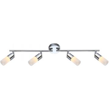 Светильник Globo 56216-4 Spinaспоты 4 лампы<br>Светильники-споты – это оригинальные изделия с современным дизайном. Они позволяют не ограничивать свою фантазию при выборе освещения для интерьера. Такие модели обеспечивают достаточно качественный свет. Благодаря компактным размерам Вы можете использовать несколько спотов для одного помещения.  Интернет-магазин «Светодом» предлагает необычный светильник-спот Globo 56216-4 по привлекательной цене. Эта модель станет отличным дополнением к люстре, выполненной в том же стиле. Перед оформлением заказа изучите характеристики изделия.  Купить светильник-спот Globo 56216-4 в нашем онлайн-магазине Вы можете либо с помощью формы на сайте, либо по указанным выше телефонам. Обратите внимание, что у нас склады не только в Москве и Екатеринбурге, но и других городах России.<br><br>S освещ. до, м2: 1<br>Тип лампы: галогенная / LED-светодиодная<br>Тип цоколя: LED<br>Цвет арматуры: серебристый<br>Количество ламп: 4<br>Ширина, мм: 180<br>Длина, мм: 650<br>Высота, мм: 180<br>MAX мощность ламп, Вт: 5