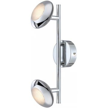 Светильник Globo 56217-2 GillesДвойные<br>Светильники-споты – это оригинальные изделия с современным дизайном. Они позволяют не ограничивать свою фантазию при выборе освещения для интерьера. Такие модели обеспечивают достаточно качественный свет. Благодаря компактным размерам Вы можете использовать несколько спотов для одного помещения.  Интернет-магазин «Светодом» предлагает необычный светильник-спот Globo 56217-2 по привлекательной цене. Эта модель станет отличным дополнением к люстре, выполненной в том же стиле. Перед оформлением заказа изучите характеристики изделия.  Купить светильник-спот Globo 56217-2 в нашем онлайн-магазине Вы можете либо с помощью формы на сайте, либо по указанным выше телефонам. Обратите внимание, что у нас склады не только в Москве и Екатеринбурге, но и других городах России.<br><br>Тип лампы: галогенная / LED-светодиодная<br>Тип цоколя: LED<br>Количество ламп: 2<br>Ширина, мм: 110<br>MAX мощность ламп, Вт: 5<br>Длина, мм: 300<br>Высота, мм: 140<br>Цвет арматуры: серебристый