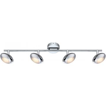 Светильник Globo 56217-4 Gillesспоты 4 лампы<br>Светильники-споты – это оригинальные изделия с современным дизайном. Они позволяют не ограничивать свою фантазию при выборе освещения для интерьера. Такие модели обеспечивают достаточно качественный свет. Благодаря компактным размерам Вы можете использовать несколько спотов для одного помещения.  Интернет-магазин «Светодом» предлагает необычный светильник-спот Globo 56217-4 по привлекательной цене. Эта модель станет отличным дополнением к люстре, выполненной в том же стиле. Перед оформлением заказа изучите характеристики изделия.  Купить светильник-спот Globo 56217-4 в нашем онлайн-магазине Вы можете либо с помощью формы на сайте, либо по указанным выше телефонам. Обратите внимание, что у нас склады не только в Москве и Екатеринбурге, но и других городах России.<br><br>S освещ. до, м2: 1<br>Тип лампы: галогенная / LED-светодиодная<br>Тип цоколя: LED<br>Цвет арматуры: серебристый<br>Количество ламп: 4<br>Ширина, мм: 100<br>Длина, мм: 660<br>Высота, мм: 140<br>MAX мощность ламп, Вт: 5