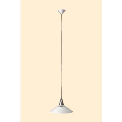Подвес Brilliant 56477/05 ChrisОдиночные<br>Зачастую мы ищем идеальное освещение для своего дома и уделяем этому достаточно много времени. Так, например, если нам нужен светильник с количеством ламп - 1 и цвет плафонов должен быть - белый, а материал плафонов только полимер! То нам, как вариант, подойдет модель подвесного светильника Brilliant 56477/05.<br><br>S освещ. до, м2: 5<br>Тип лампы: накаливания / энергосбережения / LED-светодиодная<br>Тип цоколя: E27<br>Цвет арматуры: серебристый<br>Количество ламп: 1<br>Диаметр, мм мм: 340<br>Высота, мм: 1300<br>MAX мощность ламп, Вт: 75