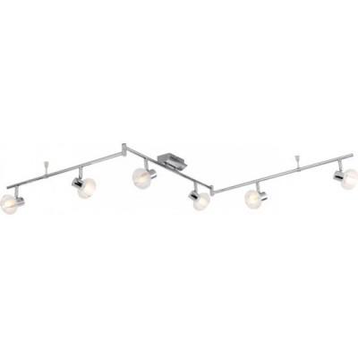 Светильник на 6 ламп Globo 56563-6 LobiviaБолее 5 ламп<br>Светильники-споты – это оригинальные изделия с современным дизайном. Они позволяют не ограничивать свою фантазию при выборе освещения для интерьера. Такие модели обеспечивают достаточно качественный свет. Благодаря компактным размерам Вы можете использовать несколько спотов для одного помещения.  Интернет-магазин «Светодом» предлагает необычный светильник-спот Globo 56563-6 по привлекательной цене. Эта модель станет отличным дополнением к люстре, выполненной в том же стиле. Перед оформлением заказа изучите характеристики изделия.  Купить светильник-спот Globo 56563-6 в нашем онлайн-магазине Вы можете либо с помощью формы на сайте, либо по указанным выше телефонам. Обратите внимание, что мы предлагаем доставку не только по Москве и Екатеринбургу, но и всем остальным российским городам.<br><br>S освещ. до, м2: 16<br>Тип лампы: галогенная<br>Тип цоколя: G9<br>Количество ламп: 6<br>MAX мощность ламп, Вт: 33<br>Длина, мм: 1800<br>Высота, мм: 170<br>Цвет арматуры: серебристый хром