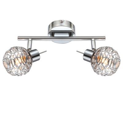 Светильник Globo 56625-2Двойные<br>Светильники-споты – это оригинальные изделия с современным дизайном. Они позволяют не ограничивать свою фантазию при выборе освещения для интерьера. Такие модели обеспечивают достаточно качественный свет. Благодаря компактным размерам Вы можете использовать несколько спотов для одного помещения.  Интернет-магазин «Светодом» предлагает необычный светильник-спот Globo 56625-2 по привлекательной цене. Эта модель станет отличным дополнением к люстре, выполненной в том же стиле. Перед оформлением заказа изучите характеристики изделия.  Купить светильник-спот Globo 56625-2 в нашем онлайн-магазине Вы можете либо с помощью формы на сайте, либо по указанным выше телефонам. Обратите внимание, что у нас склады не только в Москве и Екатеринбурге, но и других городах России.<br><br>Тип лампы: галогенная/LED<br>Тип цоколя: G9<br>Количество ламп: 2<br>MAX мощность ламп, Вт: 33<br>Диаметр, мм мм: 140<br>Высота, мм: 250<br>Цвет арматуры: серебристый
