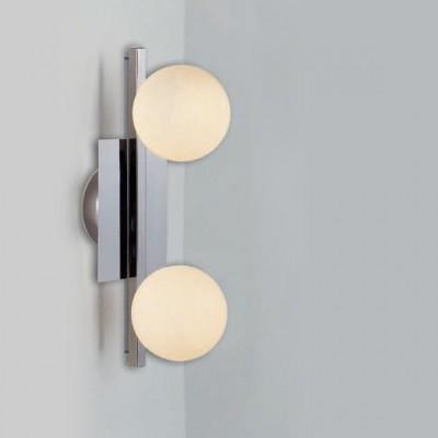 Светильник Globo 5663-2 CardiffМодерн<br><br><br>S освещ. до, м2: 5<br>Тип товара: Светильник настенно-потолочный<br>Скидка, %: 56<br>Тип лампы: галогенная / LED-светодиодная<br>Тип цоколя: G9<br>Количество ламп: 2<br>Ширина, мм: 160<br>MAX мощность ламп, Вт: 33<br>Длина, мм: 345<br>Расстояние от стены, мм: 160<br>Высота, мм: 160<br>Цвет арматуры: серебристый
