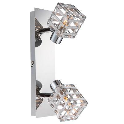 Светильник Globo 56691-2Двойные<br>Светильники-споты – это оригинальные изделия с современным дизайном. Они позволяют не ограничивать свою фантазию при выборе освещения для интерьера. Такие модели обеспечивают достаточно качественный свет. Благодаря компактным размерам Вы можете использовать несколько спотов для одного помещения.  Интернет-магазин «Светодом» предлагает необычный светильник-спот Globo 56691-2 по привлекательной цене. Эта модель станет отличным дополнением к люстре, выполненной в том же стиле. Перед оформлением заказа изучите характеристики изделия.  Купить светильник-спот Globo 56691-2 в нашем онлайн-магазине Вы можете либо с помощью формы на сайте, либо по указанным выше телефонам. Обратите внимание, что у нас склады не только в Москве и Екатеринбурге, но и других городах России.<br><br>S освещ. до, м2: 4<br>Тип лампы: галогенная/LED<br>Тип цоколя: G9<br>Цвет арматуры: серебристый<br>Количество ламп: 2<br>Ширина, мм: 110<br>Длина, мм: 70<br>Высота, мм: 280<br>MAX мощность ламп, Вт: 33