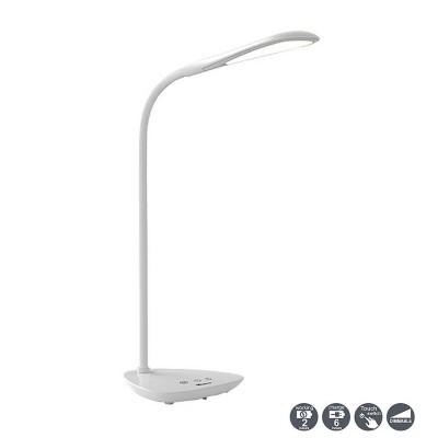 Настольная лампа Mantra 5671 READINGСветодиодные<br>Настольная лампа – это не просто источник дополнительного освещения, но и оригинальный элемент декора. Его можно установить в спальне, гостиной, кабинете и других комнатах. Интернет-магазин «Светодом» предлагает настольные лампы разных стилей по доступным ценам. Благодаря большому ассортименту Вы обязательно найдете в нашем каталоге именно ту модель, которую искали.   Настольная лампа Mantra 5671 – прекрасный вариант для завершения интерьера. Ее можно включить одновременно с люстрой для более яркого освещения или без нее для создания уютной атмосферы, настраивающей на отдых.   Купить настольную лампу Mantra 5671 Вы можете с помощью виртуальной «Корзины» или по контактным номерам, указанным на сайте.<br><br>Цветовая t, К: Диммируемый (2700-5500K)<br>Тип лампы: LED (входят в комплект)<br>Тип цоколя: LED<br>Цвет арматуры: белый<br>Диаметр, мм мм: 156<br>Высота, мм: 390<br>MAX мощность ламп, Вт: 3,5