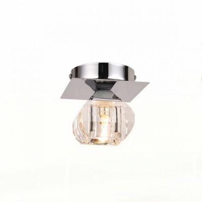 Светильник Globo 5692-1 CubusКвадратные<br>Настенно потолочный светильник Globo (Глобо) 5692-1 подходит как для установки в вертикальном положении - на стены, так и для установки в горизонтальном - на потолок. Для установки настенно потолочных светильников на натяжной потолок необходимо использовать светодиодные лампы LED, которые экономнее ламп Ильича (накаливания) в 10 раз, выделяют мало тепла и не дадут расплавиться Вашему потолку.<br><br>S освещ. до, м2: 2<br>Тип лампы: галогенная / LED-светодиодная<br>Тип цоколя: G9<br>Количество ламп: 1<br>Ширина, мм: 100<br>MAX мощность ламп, Вт: 33<br>Длина, мм: 100<br>Высота, мм: 100<br>Цвет арматуры: серебристый