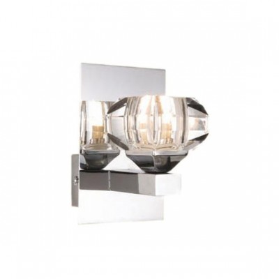 Светильник бра Globo 5692-1W Cubusсовременные бра модерн<br><br><br>S освещ. до, м2: 2<br>Тип лампы: галогенная / LED-светодиодная<br>Тип цоколя: G9<br>Цвет арматуры: серебристый<br>Количество ламп: 1<br>Ширина, мм: 100<br>Длина, мм: 120<br>Высота, мм: 150<br>MAX мощность ламп, Вт: 33