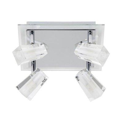 Светильник Brilliant G57235/15 FrostС 4 лампами<br>Зачастую мы ищем идеальное освещение для своего дома и уделяем этому достаточно много времени. Так, например, если нам нужен светильник с количеством ламп - 4 и цвет плафонов должен быть - неокрашенный, а материал плафонов только стекло! То нам, как вариант, подойдет модель - система спотов Brilliant G57235/15.<br><br>S освещ. до, м2: 10<br>Тип лампы: галогенная / LED-светодиодная<br>Тип цоколя: G9<br>Количество ламп: 4<br>Ширина, мм: 260<br>MAX мощность ламп, Вт: 40<br>Выступ, мм: 150<br>Длина, мм: 245<br>Высота, мм: 175<br>Цвет арматуры: серебристый хром