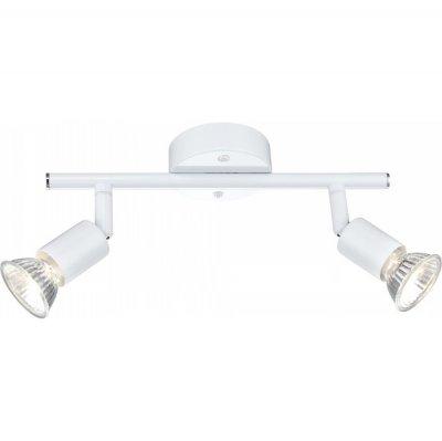 Светильник Globo 57381-2 OlanaДвойные<br>Светильники-споты – это оригинальные изделия с современным дизайном. Они позволяют не ограничивать свою фантазию при выборе освещения для интерьера. Такие модели обеспечивают достаточно качественный свет. Благодаря компактным размерам Вы можете использовать несколько спотов для одного помещения.  Интернет-магазин «Светодом» предлагает необычный светильник-спот Globo 57381-2 по привлекательной цене. Эта модель станет отличным дополнением к люстре, выполненной в том же стиле. Перед оформлением заказа изучите характеристики изделия.  Купить светильник-спот Globo 57381-2 в нашем онлайн-магазине Вы можете либо с помощью формы на сайте, либо по указанным выше телефонам. Обратите внимание, что у нас склады не только в Москве и Екатеринбурге, но и других городах России.<br><br>S освещ. до, м2: 6<br>Тип лампы: галогенная / LED-светодиодная<br>Тип цоколя: GU10<br>Цвет арматуры: белый<br>Количество ламп: 2<br>Длина, мм: 260<br>Высота, мм: 140<br>MAX мощность ламп, Вт: 50