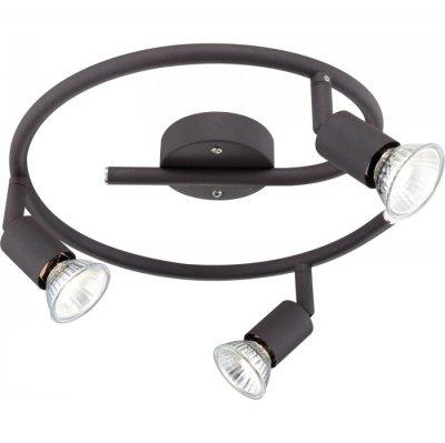 Светильник Globo 57382-3 OliwaТройные<br>Светильники-споты – это оригинальные изделия с современным дизайном. Они позволяют не ограничивать свою фантазию при выборе освещения для интерьера. Такие модели обеспечивают достаточно качественный свет. Благодаря компактным размерам Вы можете использовать несколько спотов для одного помещения.  Интернет-магазин «Светодом» предлагает необычный светильник-спот Globo 57382-3 по привлекательной цене. Эта модель станет отличным дополнением к люстре, выполненной в том же стиле. Перед оформлением заказа изучите характеристики изделия.  Купить светильник-спот Globo 57382-3 в нашем онлайн-магазине Вы можете либо с помощью формы на сайте, либо по указанным выше телефонам. Обратите внимание, что у нас склады не только в Москве и Екатеринбурге, но и других городах России.<br><br>S освещ. до, м2: 10<br>Тип лампы: галогенная / LED-светодиодная<br>Тип цоколя: GU10<br>Цвет арматуры: черный<br>Количество ламп: 3<br>Диаметр, мм мм: 290<br>Высота, мм: 140<br>MAX мощность ламп, Вт: 50