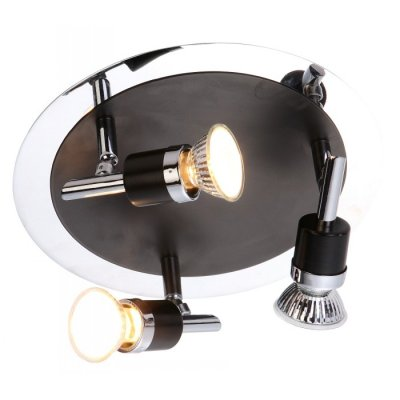 Светильник Globo 57600-3 DiamondbacksТройные<br><br><br>S освещ. до, м2: 10<br>Тип товара: Светильник поворотный спот<br>Скидка, %: 21<br>Тип лампы: галогенная / LED-светодиодная<br>Тип цоколя: GU10<br>Количество ламп: 3<br>MAX мощность ламп, Вт: 50<br>Диаметр, мм мм: 240<br>Высота, мм: 135<br>Цвет арматуры: серебристый