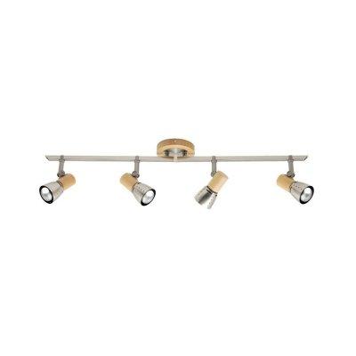 Светильник на 4 лампы Brilliant 57632/70 JunoС 4 лампами<br>Зачастую мы ищем идеальное освещение для своего дома и уделяем этому достаточно много времени. Так, например, если нам нужен светильник с количеством ламп - 4 и цвет плафонов должен быть - хром, а материал плафонов только металл! То нам, как вариант, подойдет модель - система спотов Brilliant 57632/70.<br><br>S освещ. до, м2: 10<br>Тип лампы: накал-я - энергосбер-я<br>Тип цоколя: E14<br>Цвет арматуры: коричневый<br>Количество ламп: 4<br>Ширина, мм: 900<br>Выступ, мм: 160<br>Длина, мм: 900<br>Высота, мм: 130<br>MAX мощность ламп, Вт: 40