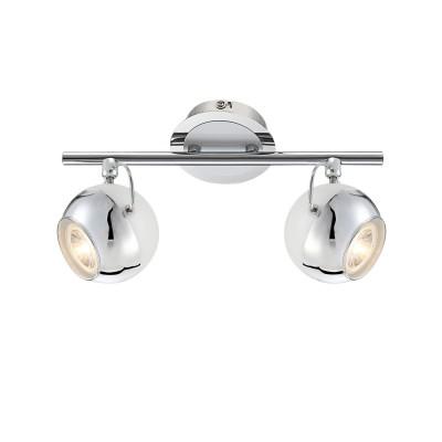 Светильник двойной Globo 57883-2OДвойные<br>Светильники-споты – это оригинальные изделия с современным дизайном. Они позволяют не ограничивать свою фантазию при выборе освещения для интерьера. Такие модели обеспечивают достаточно качественный свет. Благодаря компактным размерам Вы можете использовать несколько спотов для одного помещения.  Интернет-магазин «Светодом» предлагает необычный светильник-спот Globo 57883-2O по привлекательной цене. Эта модель станет отличным дополнением к люстре, выполненной в том же стиле. Перед оформлением заказа изучите характеристики изделия.  Купить светильник-спот Globo 57883-2O в нашем онлайн-магазине Вы можете либо с помощью формы на сайте, либо по указанным выше телефонам. Обратите внимание, что мы предлагаем доставку не только по Москве и Екатеринбургу, но и всем остальным российским городам.<br><br>Тип лампы: галогенная/LED<br>Тип цоколя: GU10<br>Количество ламп: 2<br>MAX мощность ламп, Вт: 5<br>Диаметр, мм мм: 160<br>Высота, мм: 300<br>Цвет арматуры: серебристый