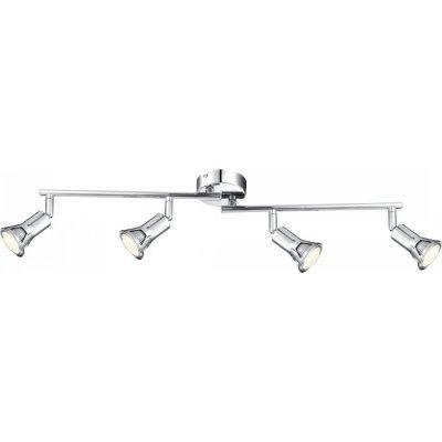 Светильник Globo 57994-4 DanteС 4 лампами<br>Светильники-споты – это оригинальные изделия с современным дизайном. Они позволяют не ограничивать свою фантазию при выборе освещения для интерьера. Такие модели обеспечивают достаточно качественный свет. Благодаря компактным размерам Вы можете использовать несколько спотов для одного помещения.  Интернет-магазин «Светодом» предлагает необычный светильник-спот Globo 57994-4 по привлекательной цене. Эта модель станет отличным дополнением к люстре, выполненной в том же стиле. Перед оформлением заказа изучите характеристики изделия.  Купить светильник-спот Globo 57994-4 в нашем онлайн-магазине Вы можете либо с помощью формы на сайте, либо по указанным выше телефонам. Обратите внимание, что у нас склады не только в Москве и Екатеринбурге, но и других городах России.<br><br>S освещ. до, м2: 5<br>Тип лампы: галогенная / LED-светодиодная<br>Тип цоколя: GU10 LED<br>Цвет арматуры: серебристый<br>Количество ламп: 4<br>Длина, мм: 600<br>Высота, мм: 160<br>MAX мощность ламп, Вт: 3