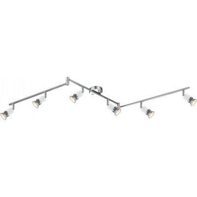 Светильник Globo 57996-6 FinaБолее 5 ламп<br>Светильники-споты – это оригинальные изделия с современным дизайном. Они позволяют не ограничивать свою фантазию при выборе освещения для интерьера. Такие модели обеспечивают достаточно качественный свет. Благодаря компактным размерам Вы можете использовать несколько спотов для одного помещения.  Интернет-магазин «Светодом» предлагает необычный светильник-спот Globo 57996-6 по привлекательной цене. Эта модель станет отличным дополнением к люстре, выполненной в том же стиле. Перед оформлением заказа изучите характеристики изделия.  Купить светильник-спот Globo 57996-6 в нашем онлайн-магазине Вы можете либо с помощью формы на сайте, либо по указанным выше телефонам. Обратите внимание, что мы предлагаем доставку не только по Москве и Екатеринбургу, но и всем остальным российским городам.<br><br>S освещ. до, м2: 1<br>Тип товара: Светильник поворотный спот<br>Тип лампы: галогенная / LED-светодиодная<br>Тип цоколя: GU10 LED<br>Количество ламп: 6<br>MAX мощность ламп, Вт: 3<br>Длина, мм: 1455<br>Высота, мм: 180<br>Цвет арматуры: серебристый