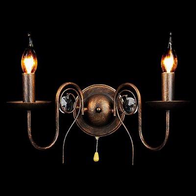 Светильник Евросвет 60018/2 черный с золотомКлассические<br><br><br>Тип лампы: Накаливания / энергосбережения / светодиодная<br>Тип цоколя: E14<br>Количество ламп: 2<br>Ширина, мм: 300<br>MAX мощность ламп, Вт: 60<br>Длина, мм: 300<br>Высота, мм: 275<br>Цвет арматуры: Золотой