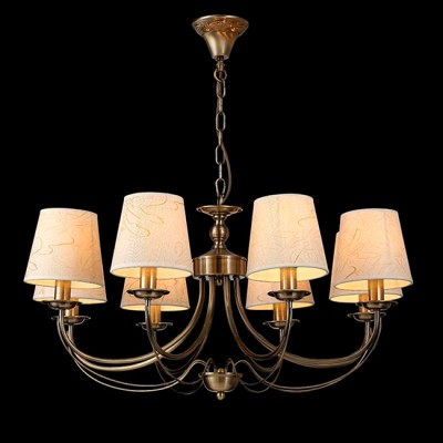 Светильник Евросвет 60025/8 античная бронзаПодвесные<br><br><br>S освещ. до, м2: 16<br>Тип лампы: Накаливания / энергосбережения / светодиодная<br>Тип цоколя: E14<br>Количество ламп: 8<br>MAX мощность ламп, Вт: 40<br>Диаметр, мм мм: 750<br>Высота, мм: 680<br>Цвет арматуры: бронзовый