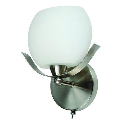 Светильник бра IDLamp 601/1A SUNWhitechromeсовременные бра модерн<br><br><br>S освещ. до, м2: 4<br>Крепление: Настенные<br>Тип лампы: накаливания / энергосбережения / LED-светодиодная<br>Тип цоколя: E14<br>Цвет арматуры: серый<br>Количество ламп: 1<br>Ширина, мм: 120<br>Длина, мм: 200<br>Высота, мм: 220<br>Оттенок (цвет): белый<br>MAX мощность ламп, Вт: 60
