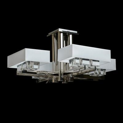 Люстра Chiaro 602010208 ЛингенПотолочные<br>Описание модели 602010208: Лаконичность линий в каждом элементе светильника Линген притягивает внимание ценителей четких форм и отточенных деталей. Основательная хромированная арматура поддерживает 4 текстильных абажура кубической формы. Декоративные элементы, выполненные из хрусталя впечатляющих размеров, расположены под абажурами  и дополняют идею минимализма и высокого стиля. Этим, типично мужским светильником можно украсить кабинет или зону над столом. Он  будет изысканно смотреться в строгом интерьере классического стиля, где каноны и чёткость линий превыше всего.<br><br>Установка на натяжной потолок: Да<br>S освещ. до, м2: 16<br>Крепление: Планка<br>Тип товара: Люстра<br>Тип лампы: Накаливания / энергосбережения / светодиодная<br>Тип цоколя: E14<br>Количество ламп: 8<br>Ширина, мм: 960<br>MAX мощность ламп, Вт: 40<br>Длина, мм: 960<br>Высота, мм: 500<br>Поверхность арматуры: глянцевый<br>Цвет арматуры: серебристый<br>Общая мощность, Вт: 320