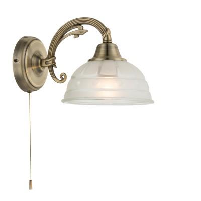 Светильник бра Globo 60207WКлассические<br><br><br>Тип цоколя: E27<br>Цвет арматуры: бронзовый<br>Количество ламп: 1<br>Ширина, мм: 260<br>Длина, мм: 170<br>Высота, мм: 160<br>MAX мощность ламп, Вт: 60