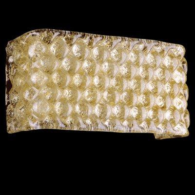 Lightstar MURANO 602523 Светильник настенный браХрустальные<br><br><br>S освещ. до, м2: 8<br>Тип лампы: накаливания / энергосбережения / LED-светодиодная<br>Тип цоколя: E14<br>Количество ламп: 2<br>Ширина, мм: 280<br>MAX мощность ламп, Вт: 60<br>Расстояние от стены, мм: 90<br>Высота, мм: 130<br>Цвет арматуры: желтый