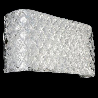 Lightstar MURANO 602540 Светильник настенный браХрустальные<br><br><br>S освещ. до, м2: 16<br>Тип лампы: накаливания / энергосбережения / LED-светодиодная<br>Тип цоколя: E14<br>Количество ламп: 4<br>Ширина, мм: 340<br>MAX мощность ламп, Вт: 60<br>Расстояние от стены, мм: 100.<br>Высота, мм: 190<br>Цвет арматуры: серебристый