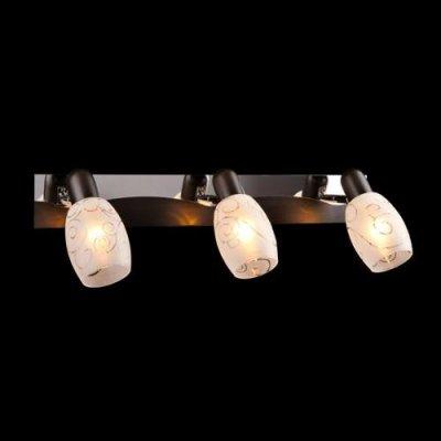 Светильник Евросвет 60301/3 хромТройные<br><br><br>S освещ. до, м2: 8<br>Тип товара: Светильник поворотный спот<br>Тип лампы: накал-я - энергосбер-я<br>Тип цоколя: E14<br>Количество ламп: 3<br>Ширина, мм: 150<br>MAX мощность ламп, Вт: 40<br>Длина, мм: 500<br>Высота, мм: 130<br>Цвет арматуры: серебристый