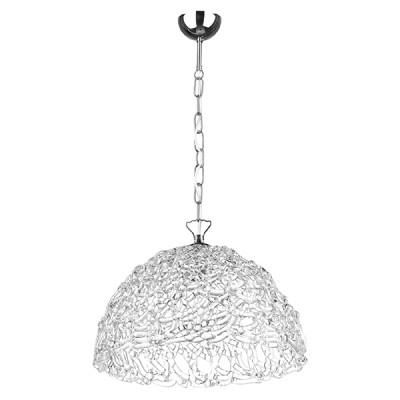 Подвесной светильник Lightstar 603110 Muranoсовременные подвесные люстры модерн<br>Высота min-max (см): 37-86; Ширина (см): 33; Вес (кг): 3,8; Кол-во ламп: 1хE27; Мощность max (W): 40; Цвет основания/цвет стекла или абажура: Crystal/Crome;
