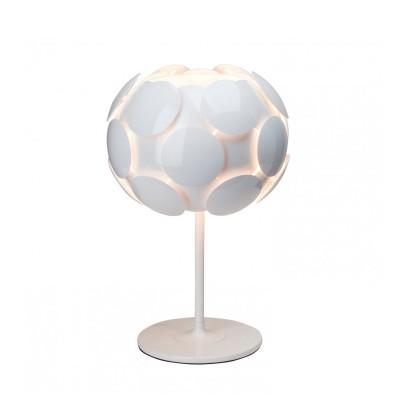 Лампа настольная Brilliant 60848/05 StatusХай тек<br><br><br>Тип товара: Настольная лампа<br>Тип лампы: накал-я - энергосбер-я<br>Тип цоколя: E27<br>Количество ламп: 1<br>MAX мощность ламп, Вт: 60<br>Диаметр, мм мм: 310<br>Высота, мм: 480<br>Цвет арматуры: белый