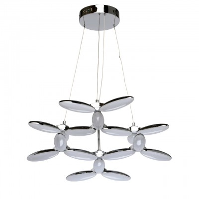 Mw light 609012818 ЛюстраПодвесные<br><br><br>Установка на натяжной потолок: Да<br>S освещ. до, м2: 22<br>Тип лампы: LED<br>Тип цоколя: LED<br>Цвет арматуры: серебристый<br>Диаметр, мм мм: 648<br>Высота, мм: 800<br>MAX мощность ламп, Вт: 54