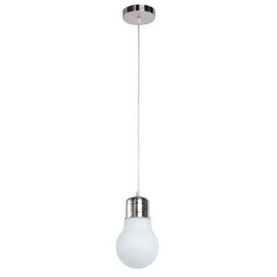 Люстра Mw light 611010201 ЭдисонОдиночные<br>Всё феноменальное просто! Воплощение оригинальной идеи светильника из коллекции Эдисон состоит в форме лампочки...а точнее, плафонов в форме огромных лампочек. Матированное белое стекло создает мягкое уютное свечение, современная система тросов позволяет самостоятельно и легко регулировать высоту светильника и создавать свою неповторимую композицию из лампочек Эдисона<br><br>S освещ. до, м2: 3<br>Крепление: Планка<br>Тип лампы: накаливания / энергосбережения / LED-светодиодная<br>Тип цоколя: E27<br>Количество ламп: 1<br>MAX мощность ламп, Вт: 60<br>Диаметр, мм мм: 160<br>Длина цепи/провода, мм: 830<br>Высота, мм: 1150<br>Цвет арматуры: серебристый<br>Общая мощность, Вт: 60