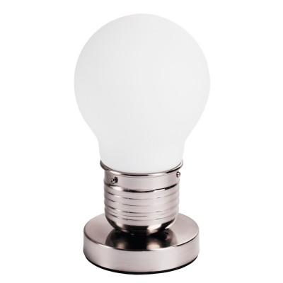 Настольная лампа Mw light 611030101 ЭдисонХай тек<br>Всё феноменальное просто! Воплощение оригинальной идеи светильника из коллекции Эдисон состоит в форме лампочки...а точнее, плафонов в форме огромных лампочек. Матированное белое стекло создает мягкое уютное свечение, современная система тросов позволяет самостоятельно и легко регулировать высоту светильника и создавать свою неповторимую композицию из лампочек Эдисона<br><br>S освещ. до, м2: 3<br>Тип лампы: накаливания / энергосбережения / LED-светодиодная<br>Тип цоколя: E27<br>Количество ламп: 1<br>MAX мощность ламп, Вт: 60<br>Диаметр, мм мм: 160<br>Высота, мм: 260<br>Поверхность арматуры: глянцевый<br>Цвет арматуры: серебристый<br>Общая мощность, Вт: 60