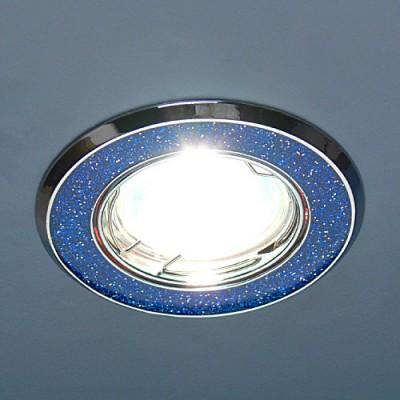 611A SH BL (синий блеск/хром) Электростандарт Точечный светильникКруглые<br>Лампа: MR16 G5.3 max 50 Вт Диаметр: #216; 86 мм Высота внутренней части: ? 21 мм Высота внешней части: ? 4 мм Монтажное отверстие: #216; 75 мм Гарантия: 2 года Светильник имеет поворотный механизм<br><br>S освещ. до, м2: 3<br>Тип лампы: галогенная<br>Тип цоколя: gu5.3<br>Цвет арматуры: серебристый<br>Количество ламп: 1<br>Диаметр, мм мм: 85<br>Диаметр врезного отверстия, мм: 75<br>Оттенок (цвет): синий<br>MAX мощность ламп, Вт: 50